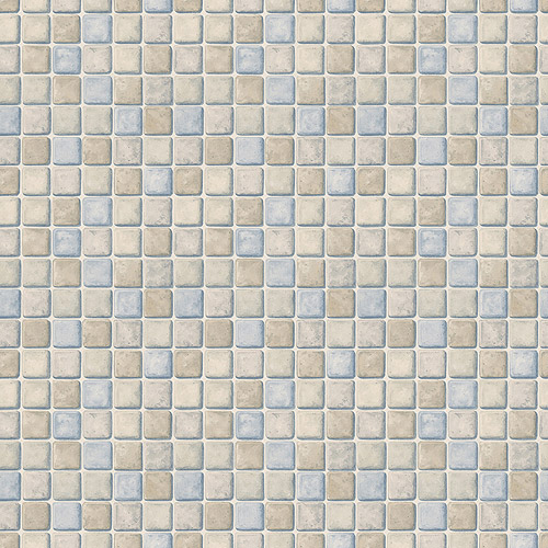 Blue Mountain Tile Wallcovering, Powder Blue and Gray