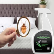 Bed Bug Killer Spray & Lice Killer Plus Kill Eggs Before Infestation - All Natural Fast Acting Non Toxic Insecticide Spray -  Odorless, Non Staining w/Propriety Formula - Children & Pet Safe (24oz)