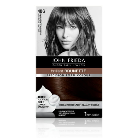 John Frieda Precision Foam Colour Hair Color Dark Chocolate Brown 4BG, 1