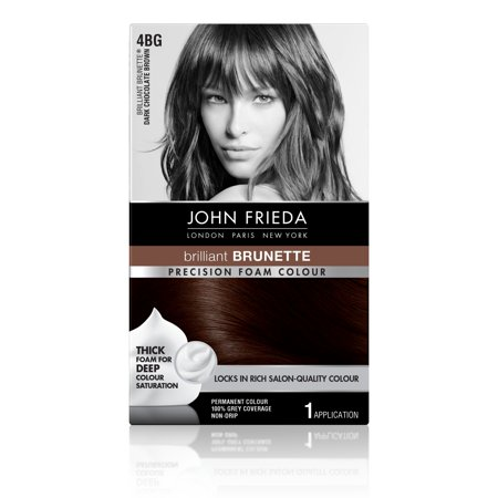 John Frieda Brilliant Brunette 4BG Dark Chocolate Brown Permanent Colour, 1 (Sun Bum Hair Lightener On Dark Hair)