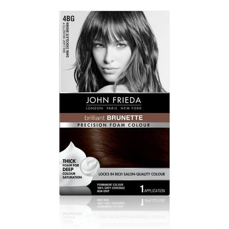 John Frieda Precision Foam Colour Hair Color Dark Chocolate Brown 4BG, 1 application - White Halloween Hair Color