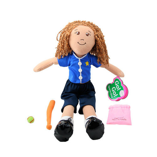 Go! Go! Sports Girls - Sam Softball Doll