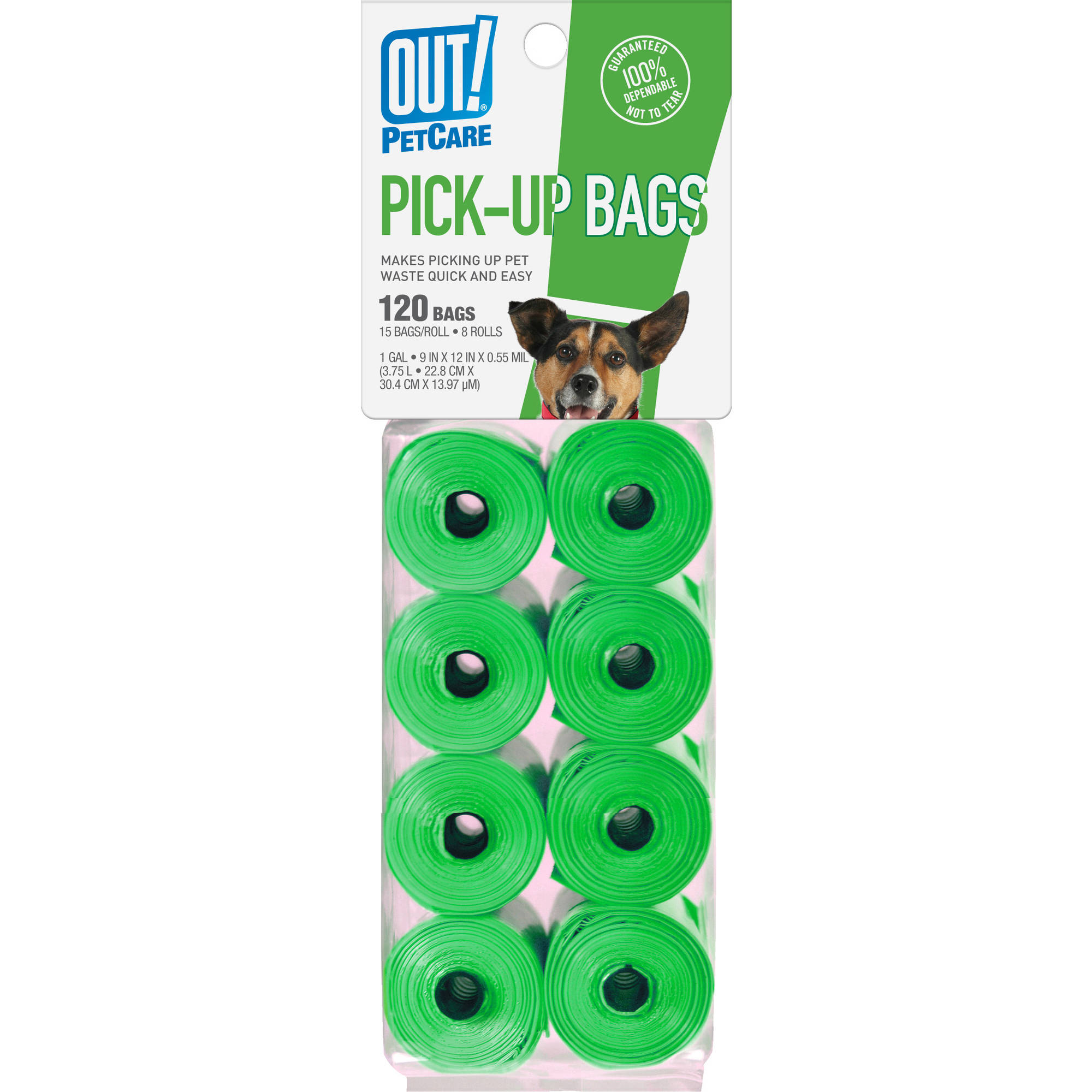 OUT! Poop Bag Bone Refill, 120 ct