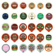 Perfect Samplers Decaf Flavored Coffee Custom Variety Pack - Pods for Keurig K Cup Brewers - 30 Assorted Single Serve Pods for Keurig K-Cup Machines in Sample Pack