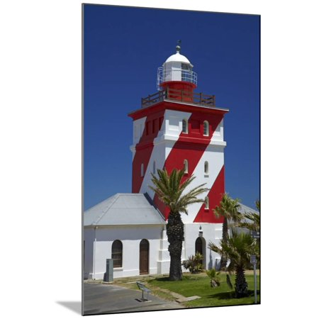 Mouille Point Lighthouse 1824 Cape Town South Africa Wood Mounted Print Wall Art By David Wall