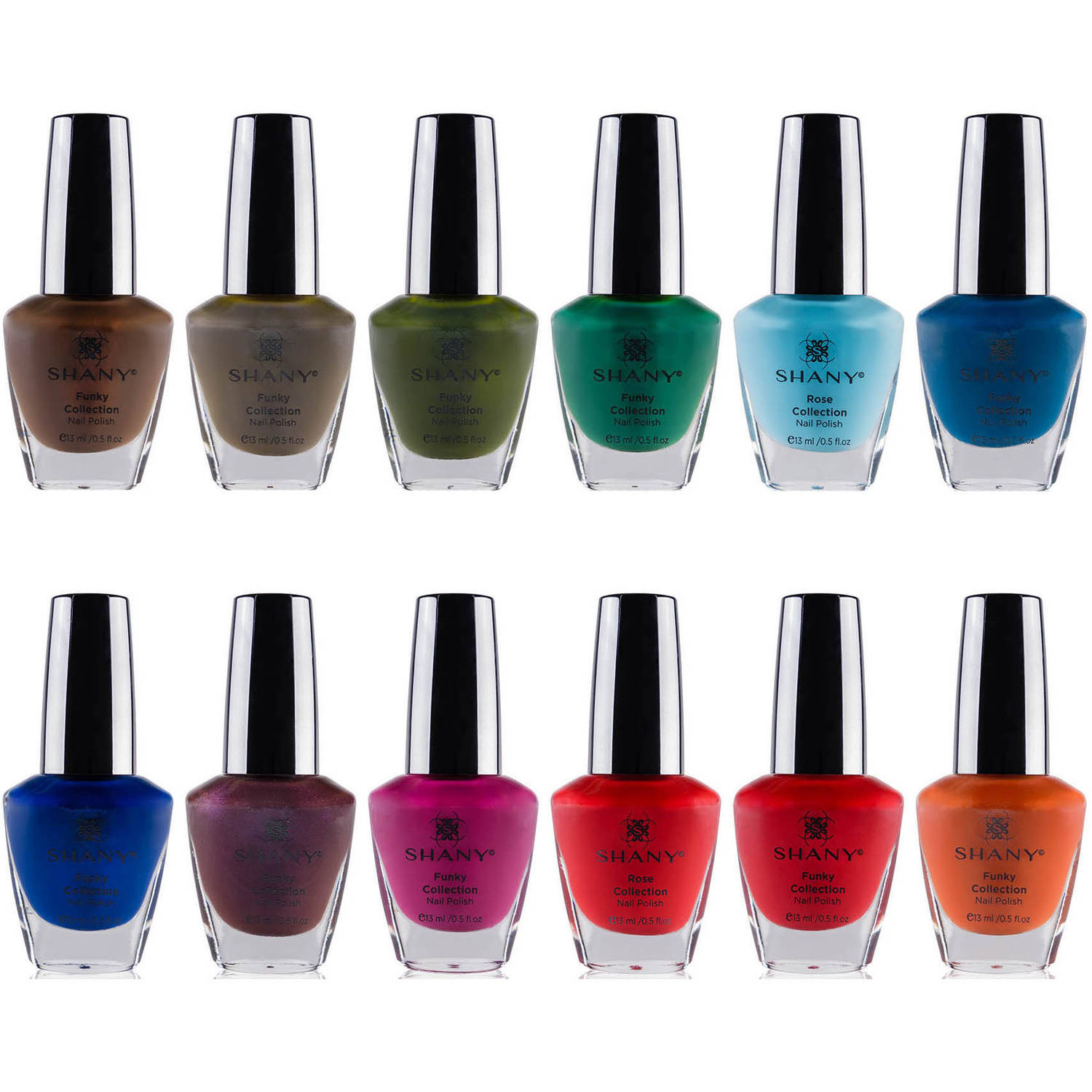 SHANY Funky Collection Nail Polish Set, 12 count