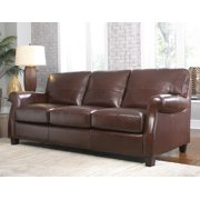 Lazzaro Carlyle Leather Sofa in Coffe Beans