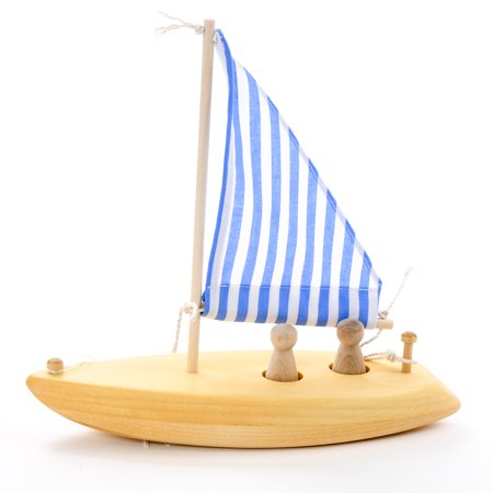 Wooden Toy Sailboat - Made in USA