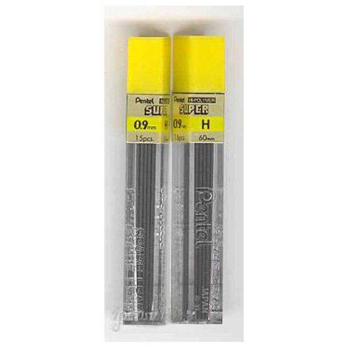 2 Tubes PENTEL Super Hi-Polymer Lead 0.9 mm H