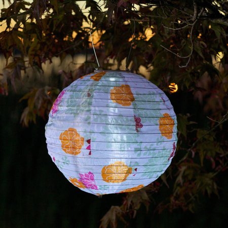 UPC 035286315784 product image for GlOW Solar Lantern, Floral Bloom Print | upcitemdb.com