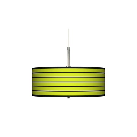 Giclee Gallery Bold Lime Green Stripe Giclee Pendant Chandelier