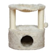Trixie Pet Products Baza Grande Scratching Post Condo & Hammock, Cream