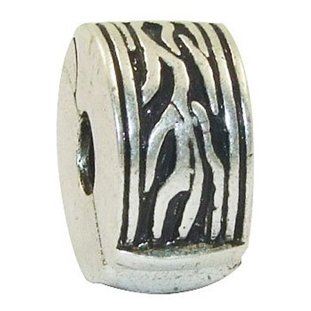 - Abstract Design European Style Clip Lock Stopper Bead Charm
