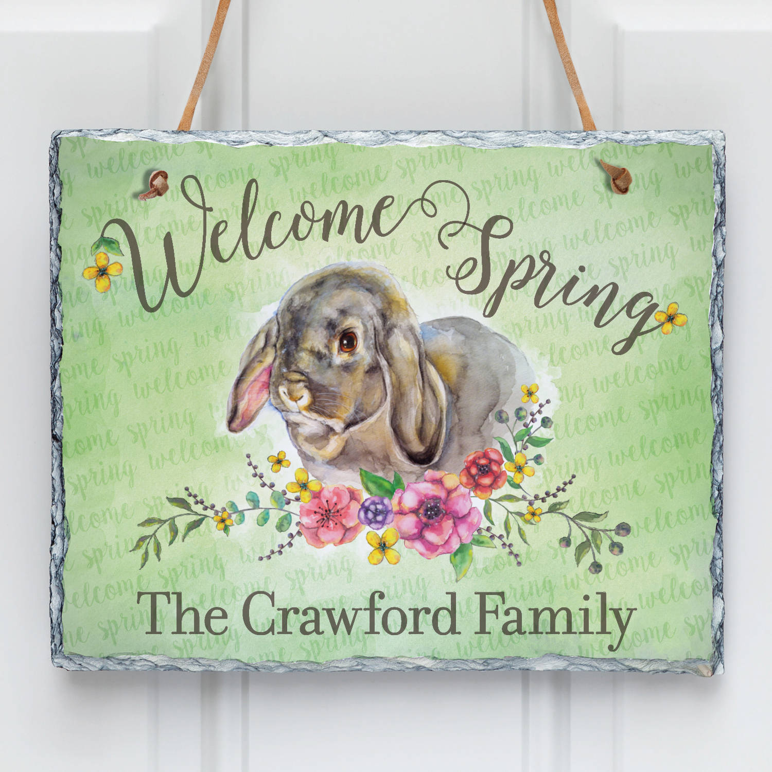 Welcome Spring Personalized Slate