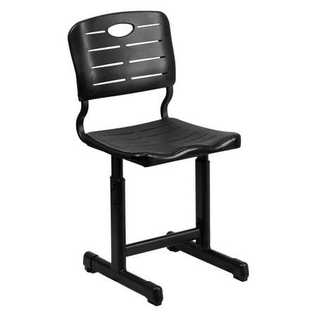 Image result for flash furniture adjustable height black student chair with black pedestal frame