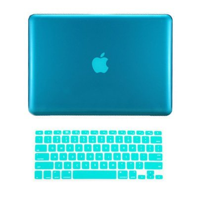TopCase 2 in 1 Retina 13-Inch Aqua Blue Crystal Hard Case Cover for Apple MacBook Pro 13.3