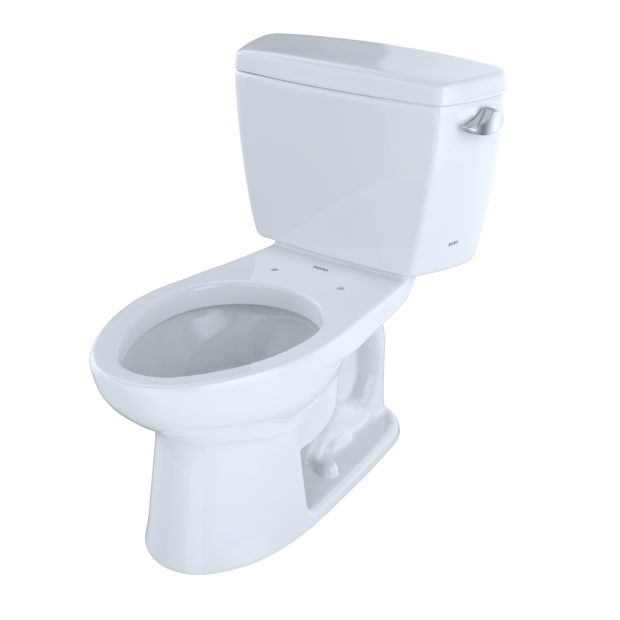 TOTO® Drake® Two-Piece Elongated 1.6 GPF Toilet with Right-Hand Trip Lever, Cotton White - CST744SR#01