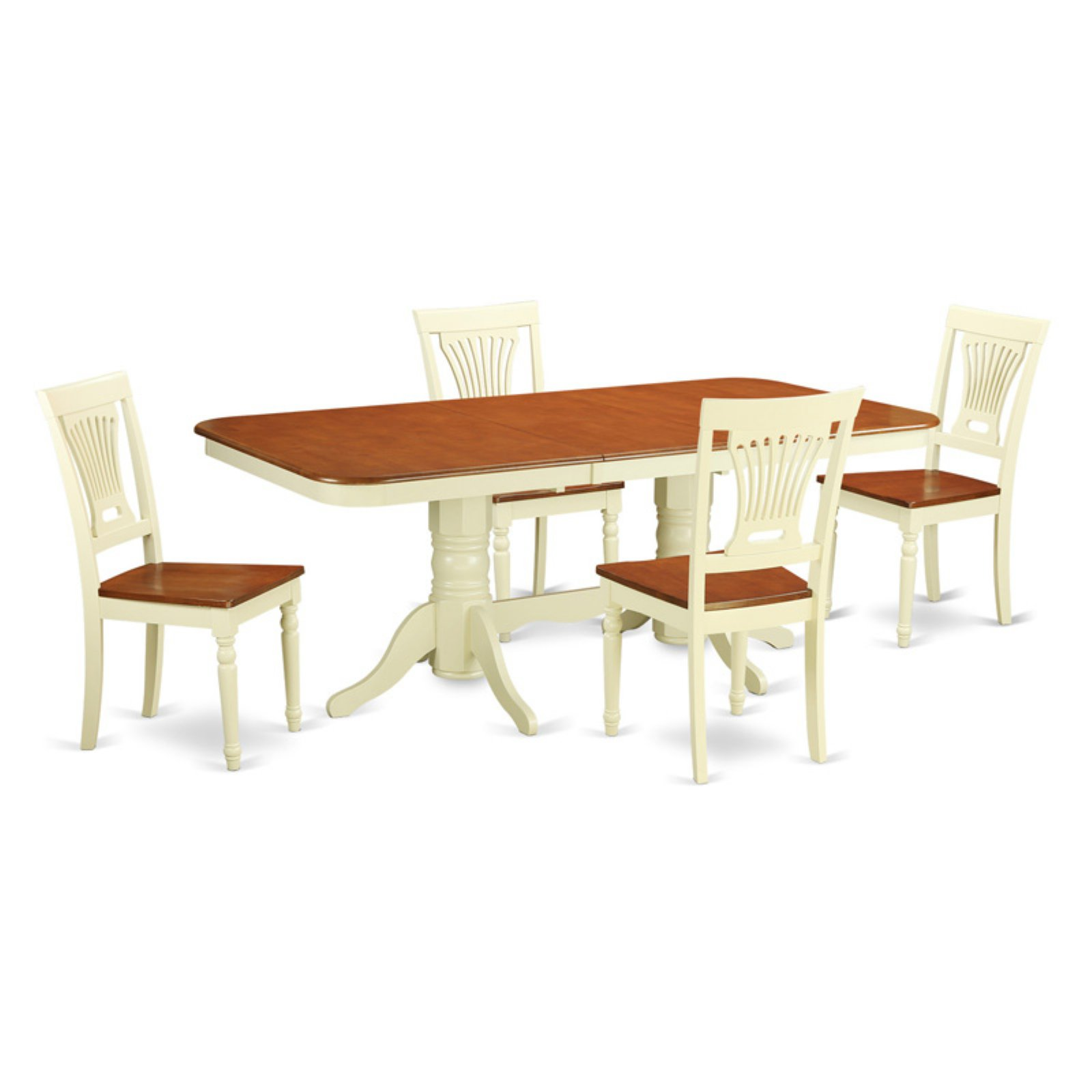 East West Furniture Kenley 5 Piece Dining Table Set with Plainview Chairs
