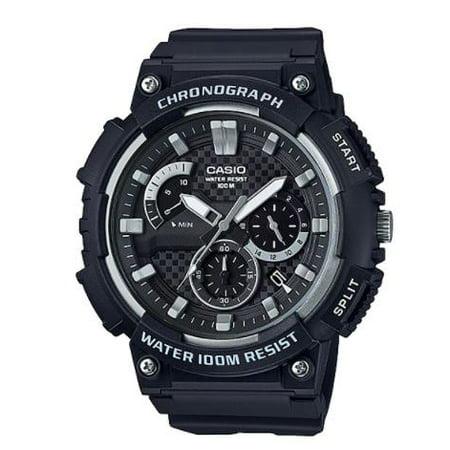 Men's 3D Dial Chronograph Watch, Black - MCW200H-1AV