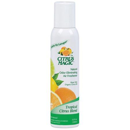 Citrus Magic Natural Odor Eliminating Air Freshener Spray, Tropical Citrus Blend, Pack of 3, 3 Ounces Each