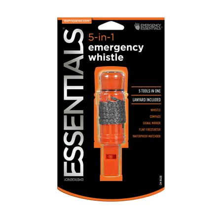 Emergency Essentials Camping and Emergency Survival 5-in-1 Whistle
