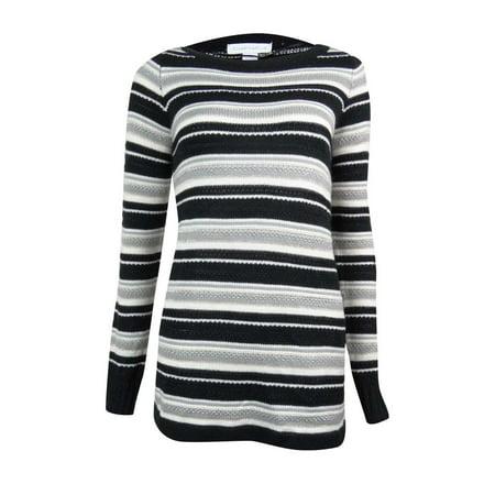(Charter Club Women's Metallic Striped Tunic Sweater)