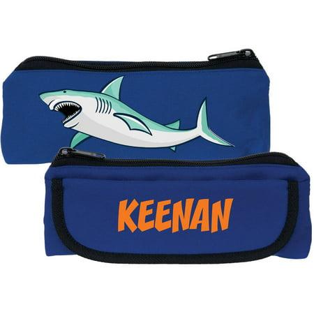 Personalized Shark Blue Kids Pencil Case - Personalized Pencil Case