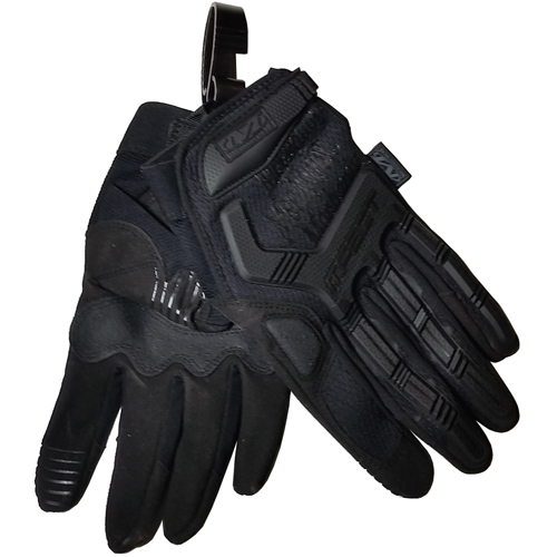 Authentic Mechanix M-Pact Gloves PAIR (Black/Covert) with Handy Gloves Clip - Size Small