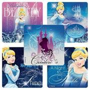 Disney Glitter Cinderella Dreams Stickers - Party Favors - 50 per Pack