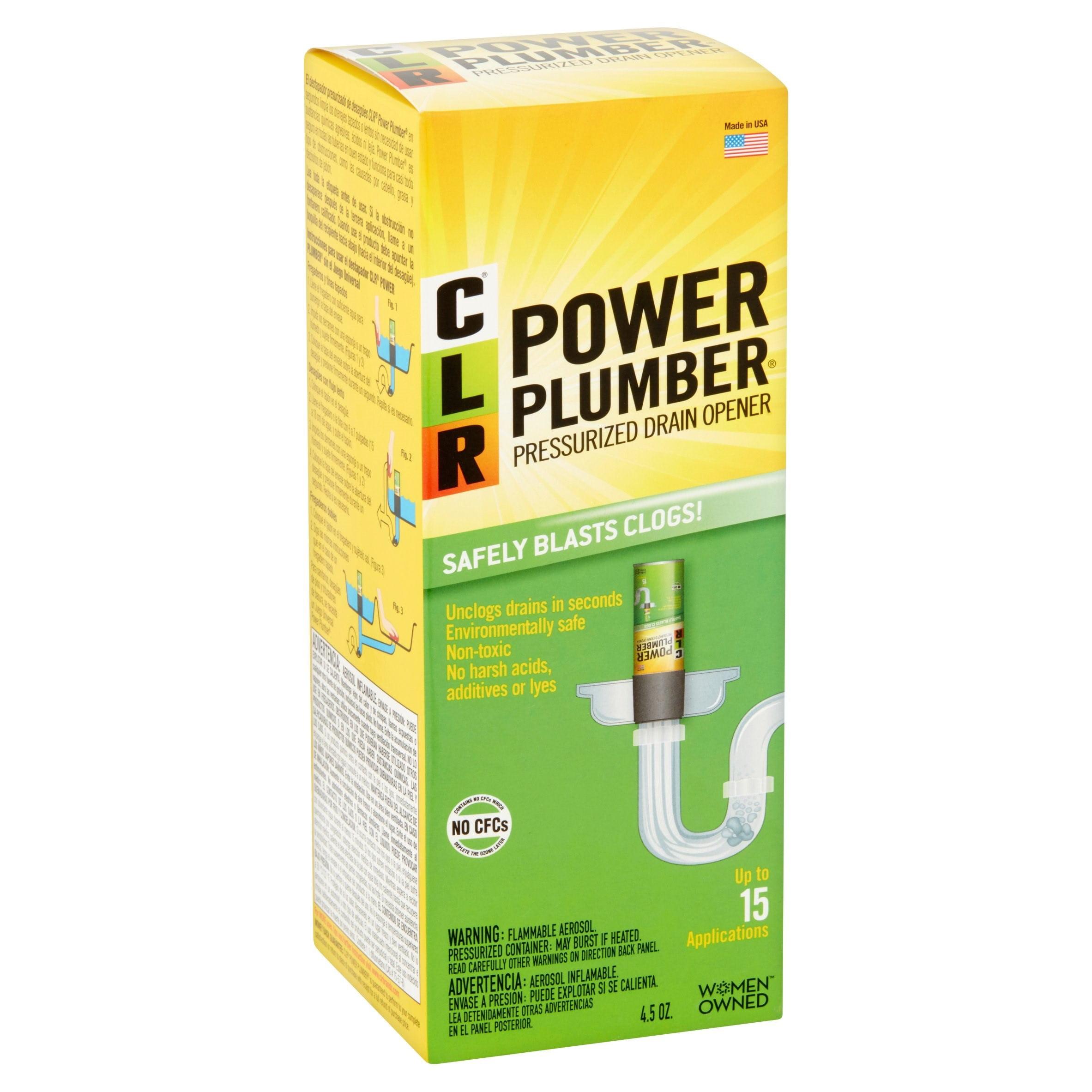 CLR Power Plumber Pressurized Drain Opener, 4.5 Oz