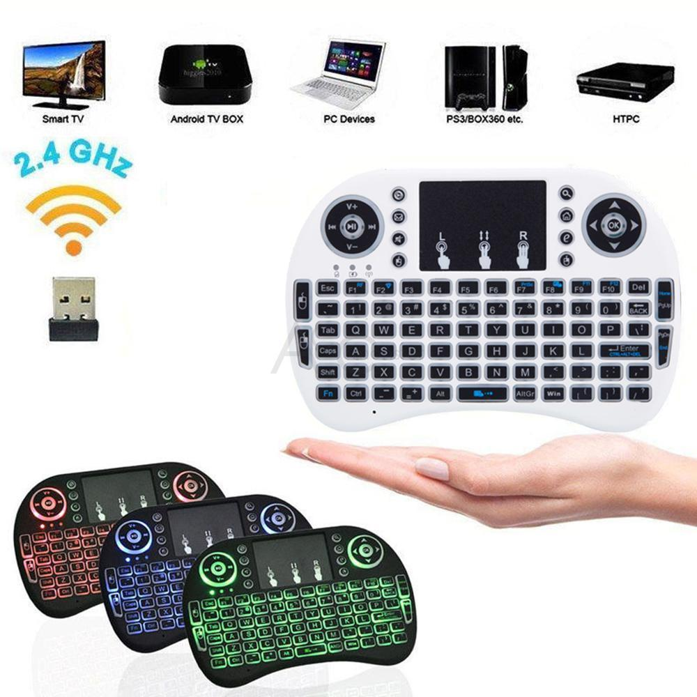 Ktaxon Mini 3 Colors Backlit i8 2.4GHz Wireless Keyboard Touchpad For TV Box Android PC