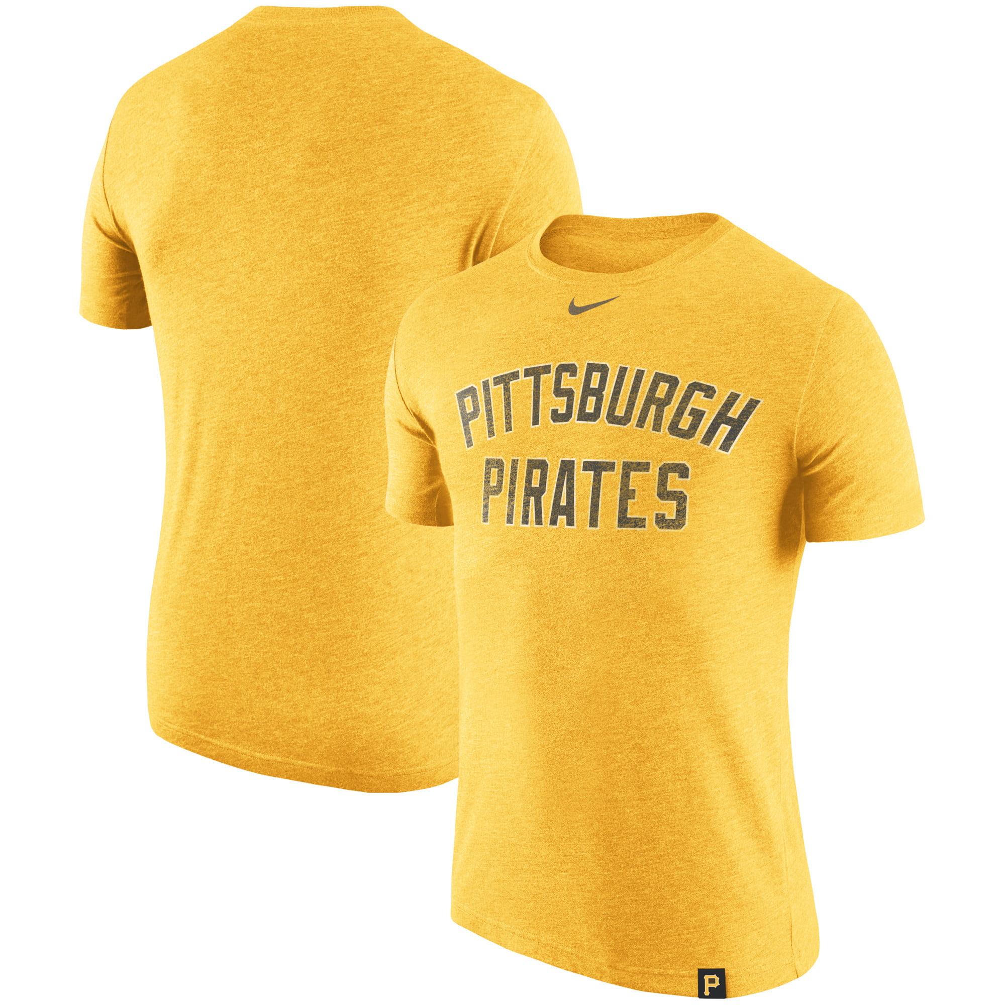 Pittsburgh Pirates Nike Tri-Blend DNA Performance T-Shirt - Heathered Gold