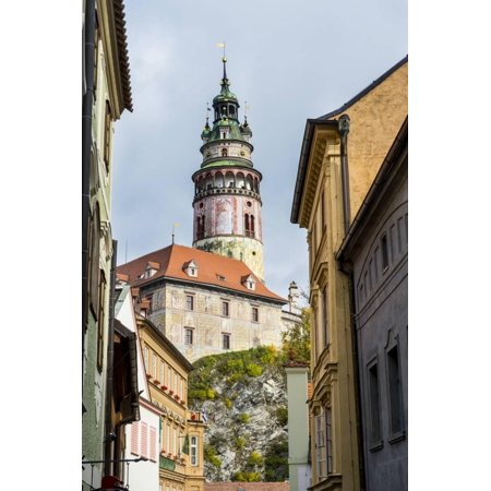 View Through the Gothic House Facades to the Krumlov Castle, Cesky Krumlov, Czech Republic, Europe Print Wall Art By Michael - Gothic European Dinner