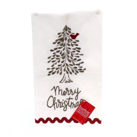 Fabric Refresher Tea Tree - Tabletop MERRY CHRISTMAS TEA TOWEL Fabric Tree Cardinal 1745310