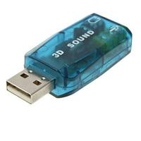 Unique Bargains Hi-speed USB Music 3D Sound USB Audio Controller