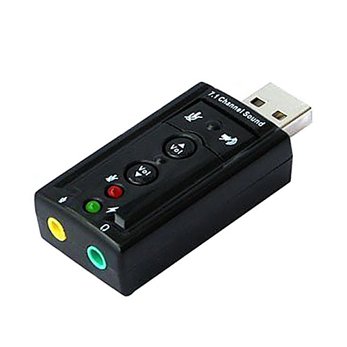 Girl12Queen Portable USB 2.0 External Sound Card Virtual 7.1 Channel Stereo Audio Adapter