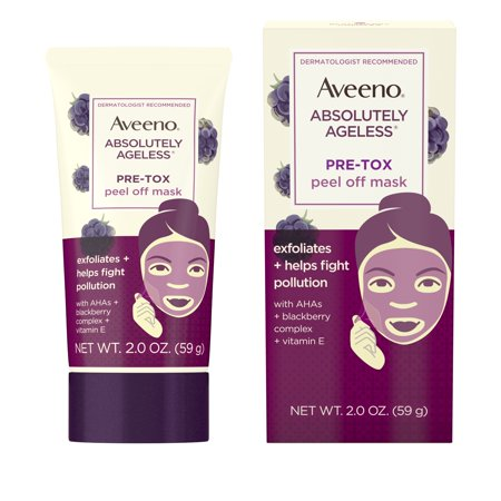 Aveeno Absolutely Ageless Pre-Tox Peel Off Antioxidant Face Mask, 2 oz - Peel Off Maske Halloween