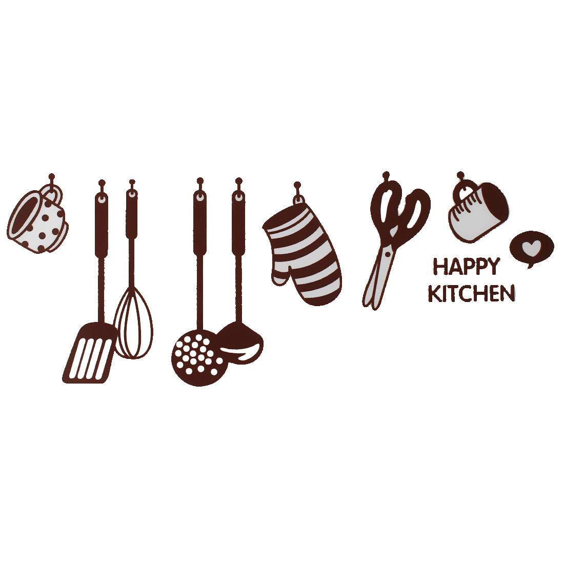 Home Decor Kitchen Tool Pattern Removable Wall Decor Sticker Wallpaper Mural
