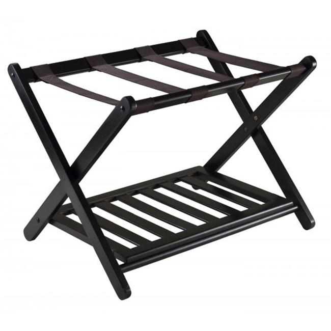 Winsome Trading 92436 Reese Luggage Rack with shelf