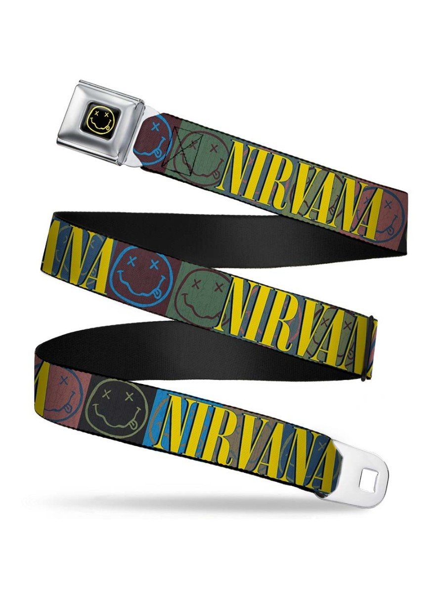 Nirvana Smiley Face Officially Licensed Seatbelt Belt