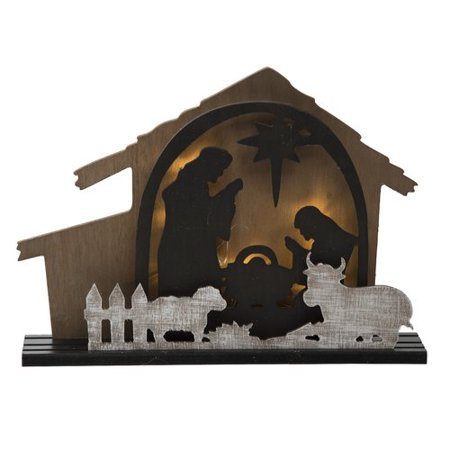 The Holiday Aisle Light up Rustic Nativity Scene