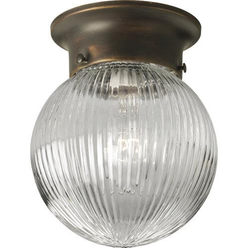 Progress Lighting  P3599  Ceiling Fixtures  Glass Globes  Indoor Lighting  Flush Mount  ;Antique Bronze