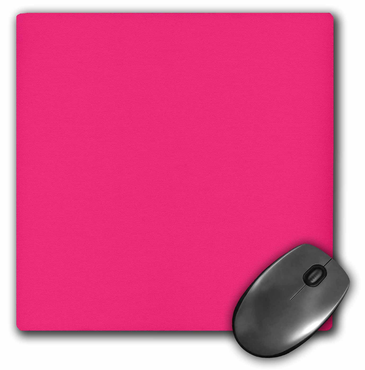 3dRose Hot pink plain simple one solid color girly bright vibrant neon tropical summery summer pink, Mouse... by 3dRose