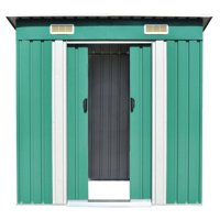 Garden Storage Shed Galvanized Steel Backyard Warehouse Large Space Patio Tools Room