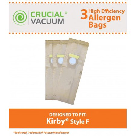 Crucial Vacuum 3 Kirby Style F Allergen Paper Bags, Part # 204808, 205808