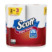 Scott Paper Towels, Choose-A-Sheet, 2 Mega Rolls (=3 Regular Rolls)