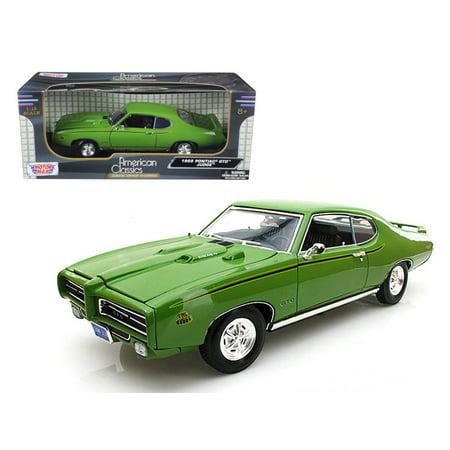 1969 Pontiac Gto Judge Green 1 18 Diecast Car Model By Motormax