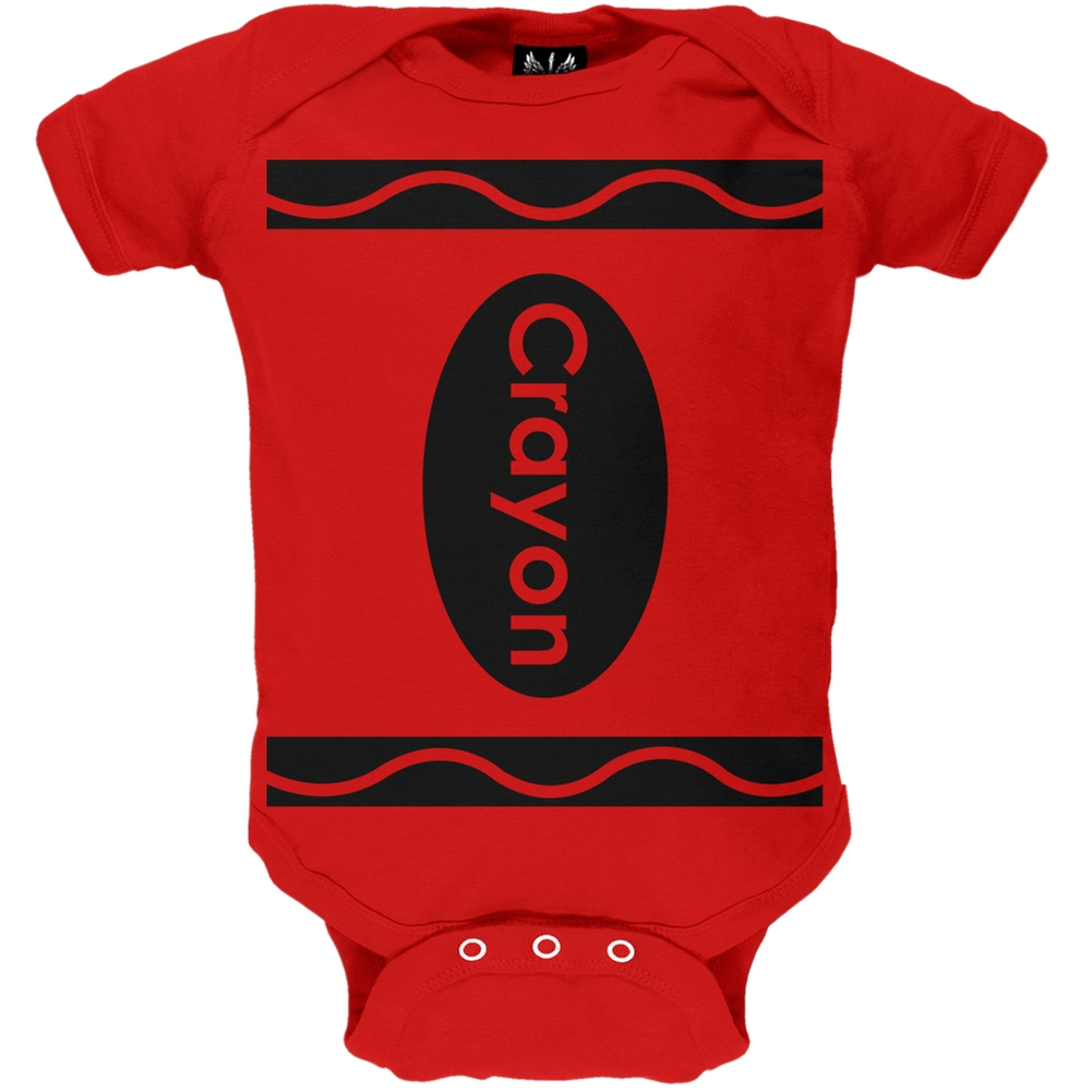 Red Crayon Costume Baby One Piece