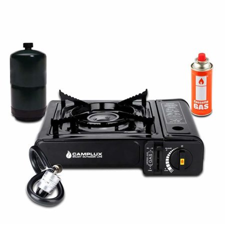 Camplux JK-5310 New Dual Fuel Propane & Butane Portable Outdoor Camping Gas Stove Single Burner