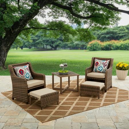 Better Homes & Garden Hawthorne Park 5 Piece Outdoor Chat Set